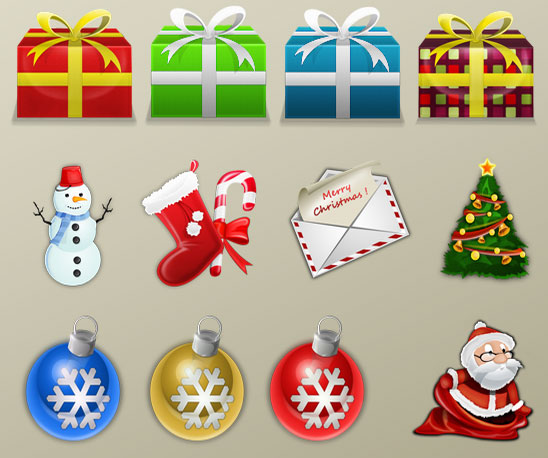 Awesome Christmas Icon Pack Freebie
