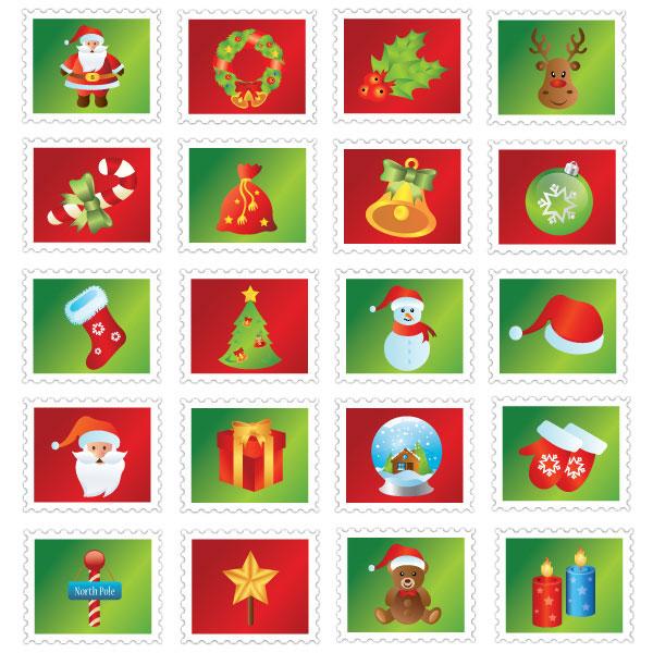 Christmas Stamp Icons
