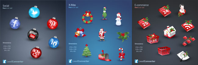 """Lovely & Free Christmas Icons"""""""