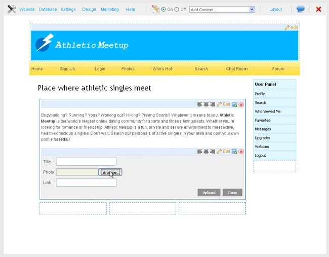 Building dating site software