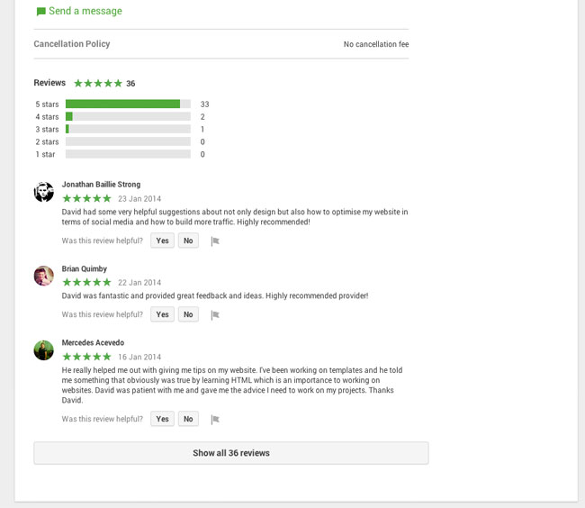 Helpouts by Google Reviews