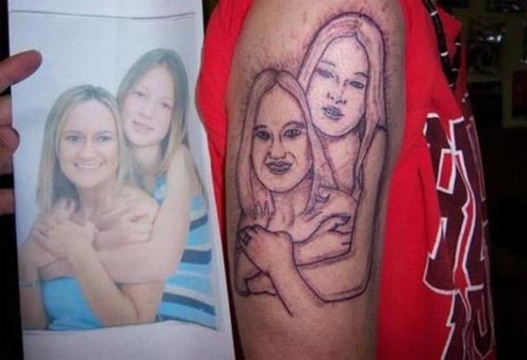 Awful Portrait Tattoo