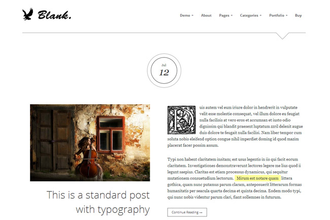 Blank WordPress Theme