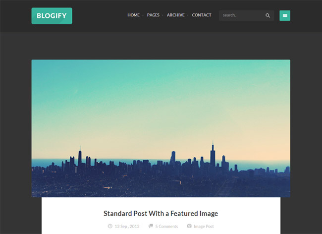 Blogify WordPress Theme