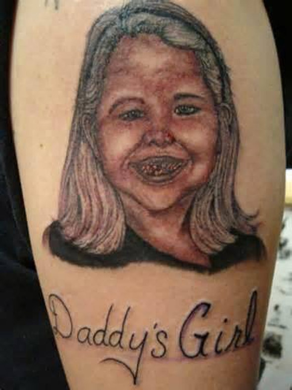 Daddy's Girl Needs To See a Dentist Tattoo