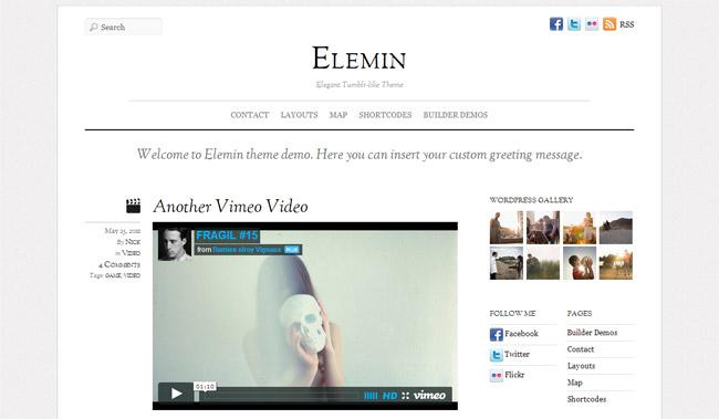Elemin WordPress Theme