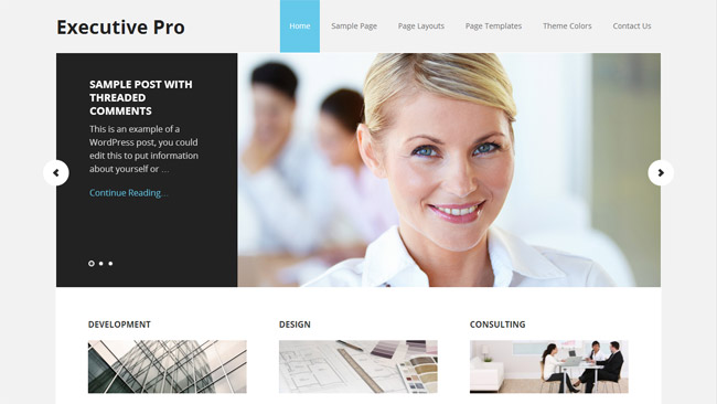 Executive Pro WordPress Theme