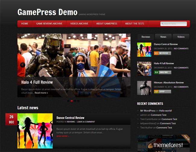 GamePress WordPress Theme
