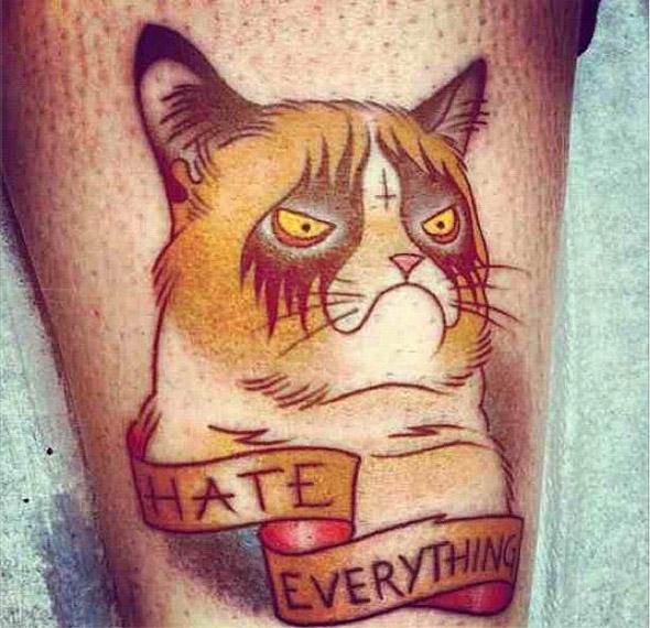 Angry Feline Tattoo
