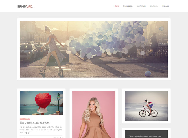 InfinityGrid WordPress Theme