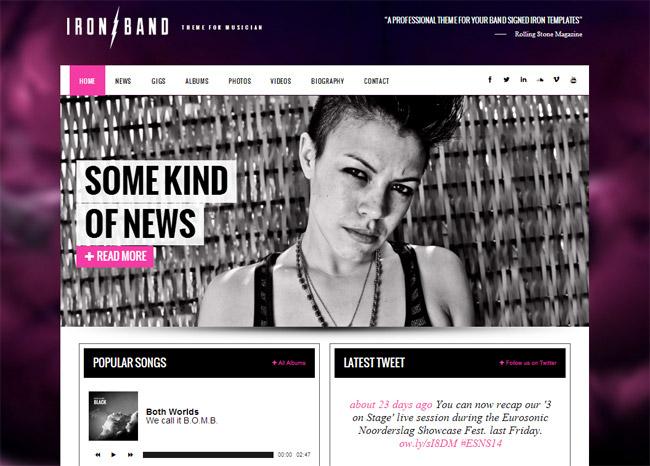 IronBand WordPress Theme