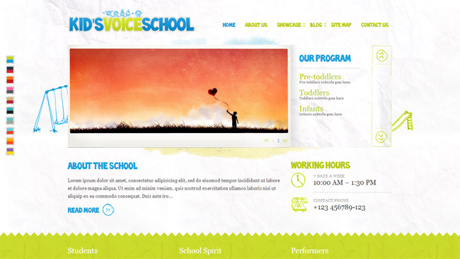 Kid's Voice School WordPress Theme