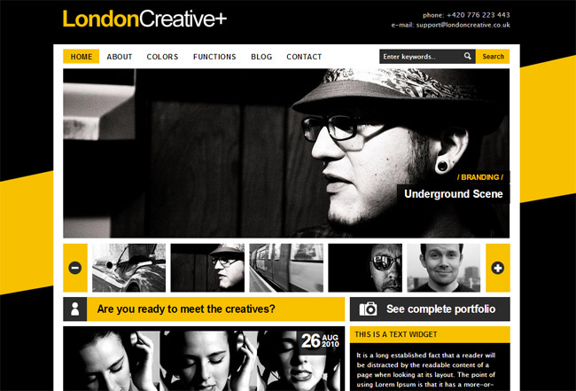 London Creative + WordPress Theme