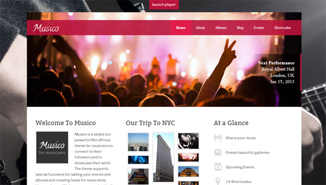 Musico WordPress Theme