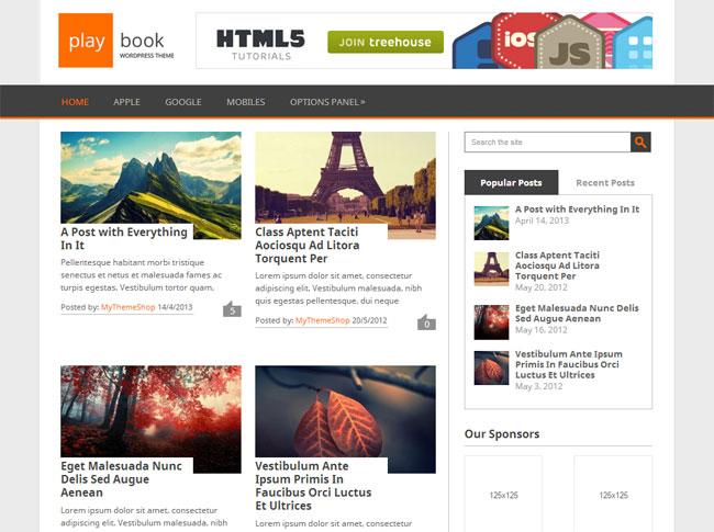 Playbook WordPress Theme