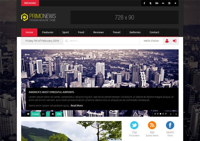 PrimoNews WordPress Theme