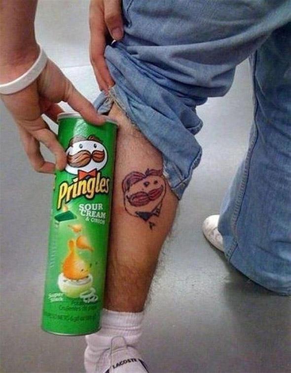 Julius Pringles Tattoo