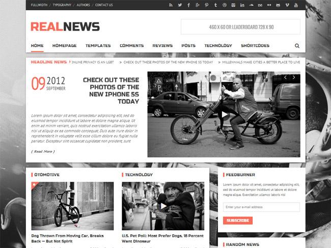 Realnews WordPress Theme
