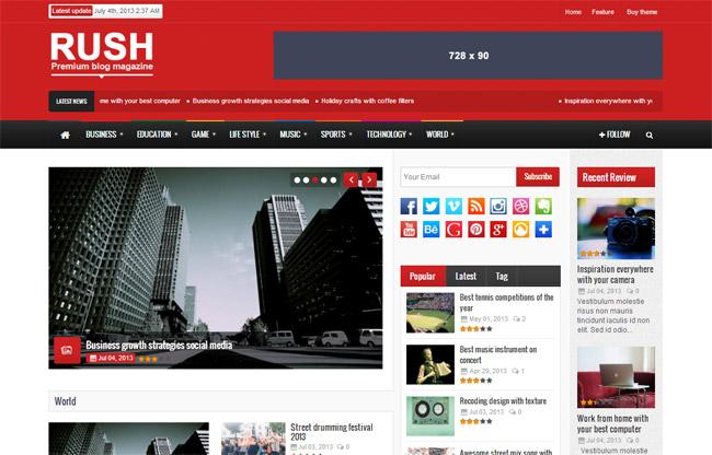 Rush WordPress Theme