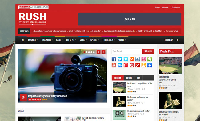 Rush WordPress Theme