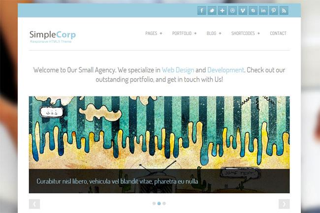 SimpleCorp WordPress Theme