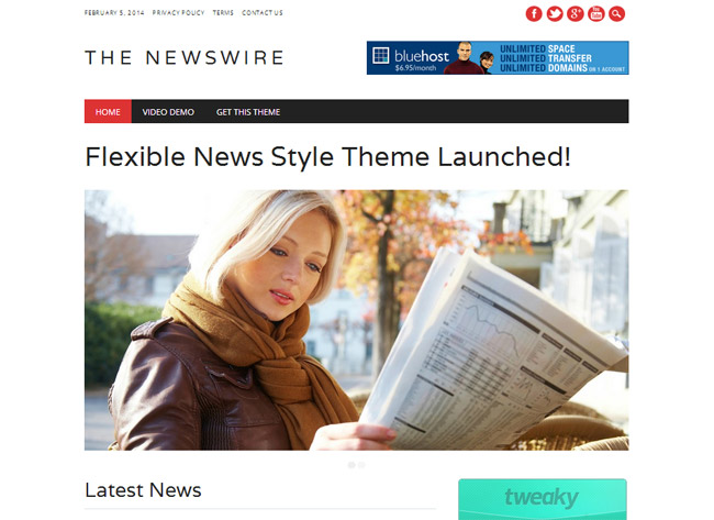 The News Wire WordPress Theme