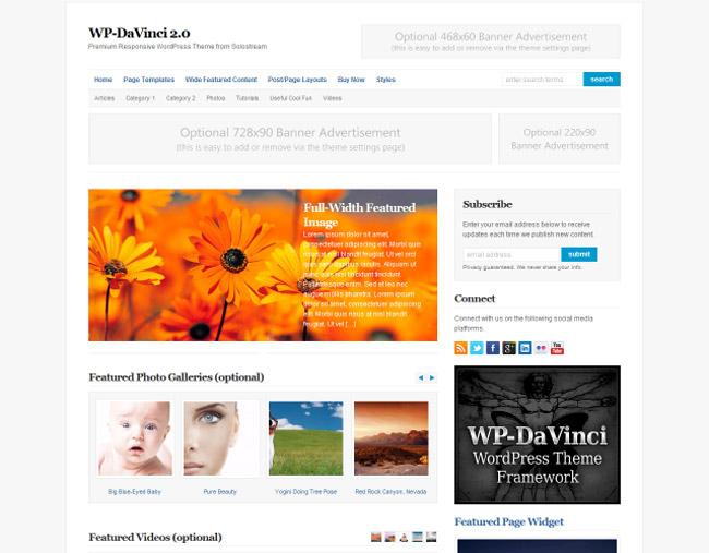 WP-DaVinci WordPress Theme