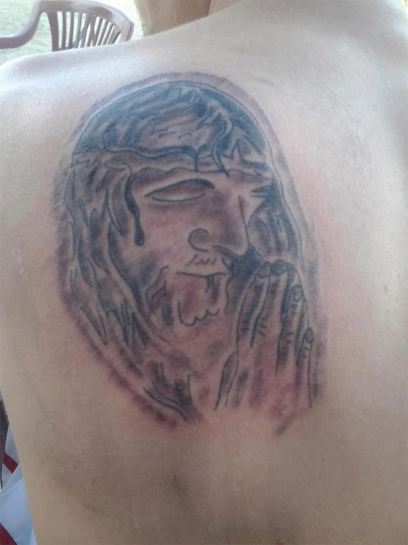 Pray for Him Tattoo
