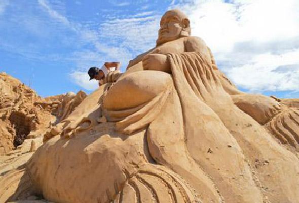 Buddha Beach Sculpture