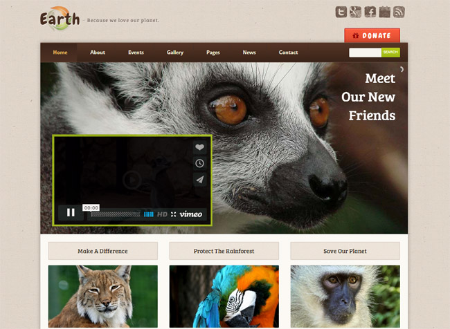 Earth WordPress Theme