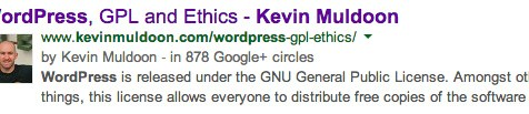Google Plus Authorship