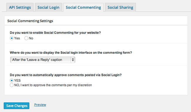 Login Radius Social Commenting