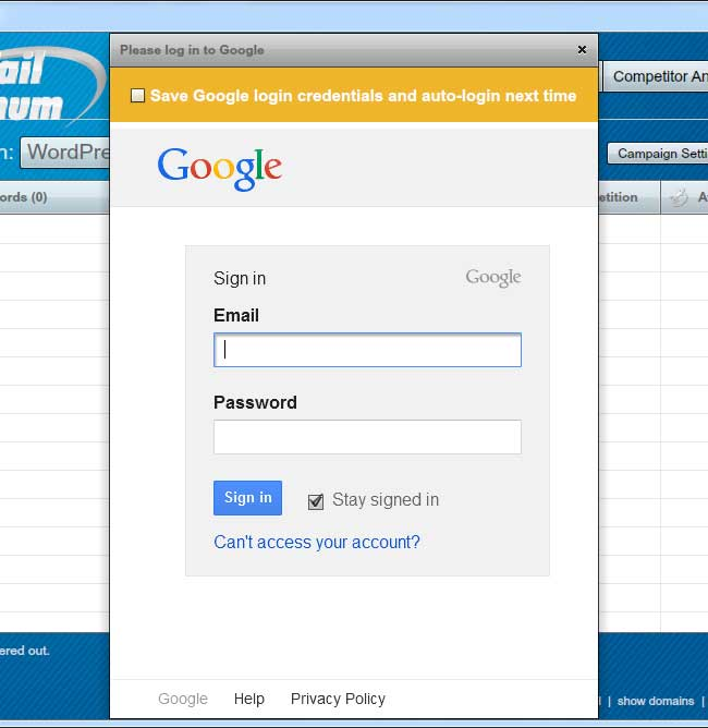 Long Tail Pro Review Google Login