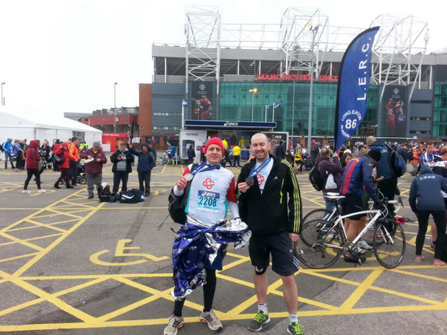 Me and Barry After the Marathon