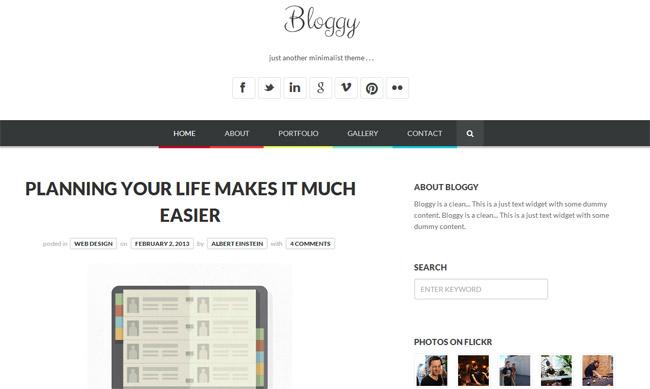 Bloggy WordPress Theme