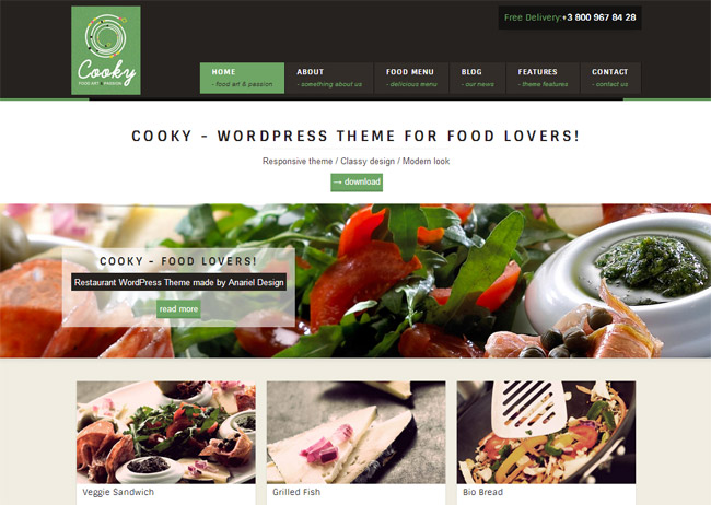 Cooky WordPress Theme