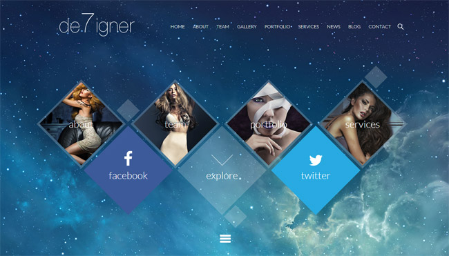 De7igner WordPress Theme