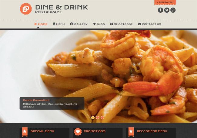 Dine & Drink WordPress Theme