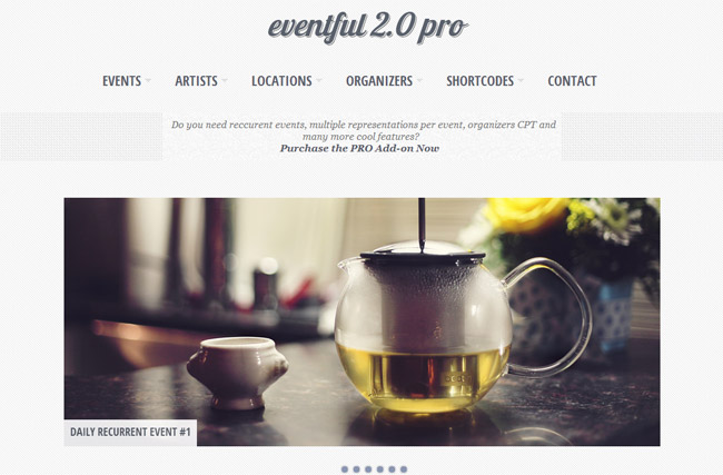 Eventful WordPress Theme