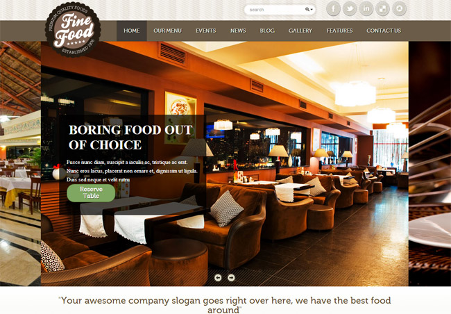 Fine Food WordPress Theme