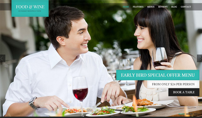 Food & Wine WordPress Theme