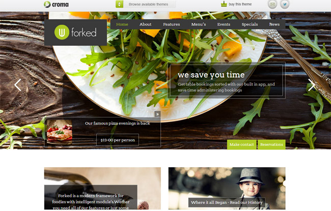 Forked WordPress Theme