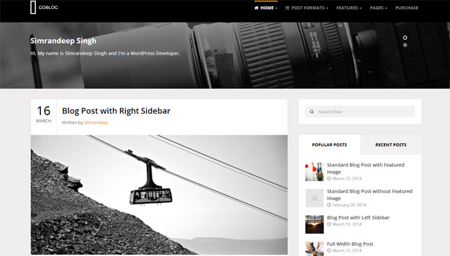 GoBlog WordPress Theme