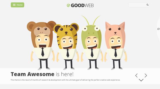 GoodWeb WordPress Theme
