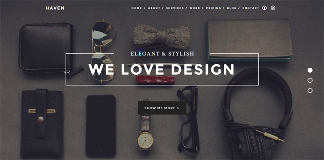 Haven WordPress Theme