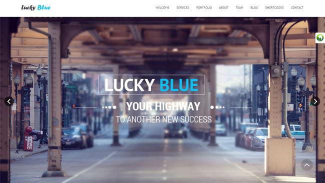 Lucky Blue WordPress Theme