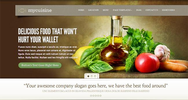 MyCuisine WordPress Theme