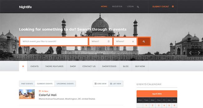 Nightlife WordPress Theme