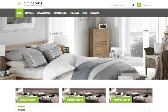 Online Sale WordPress Theme