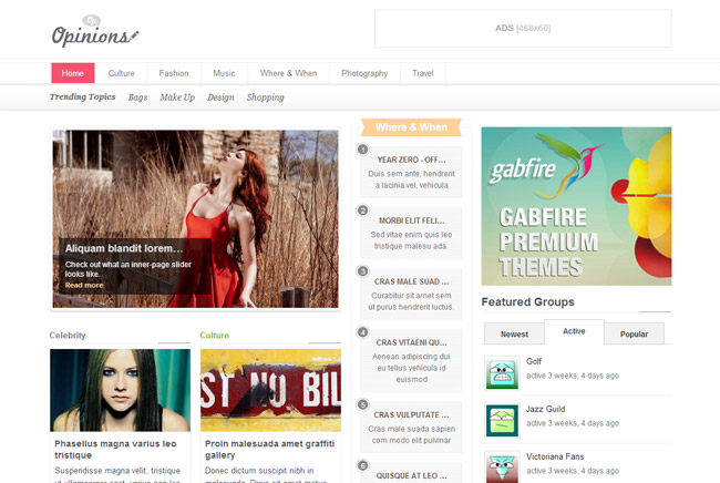Opinions WordPress Theme